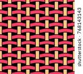 basket weave seamless pattern.... | Shutterstock .eps vector #768143143