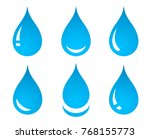 blue water drop set icons on... | Shutterstock .eps vector #768155773
