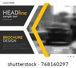 business presentation template  ... | Shutterstock .eps vector #768160297