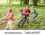 tug of war in park | Shutterstock . vector #768169507