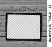 wooden rectangular art frame... | Shutterstock .eps vector #768184483