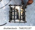 steel welding for making... | Shutterstock . vector #768191137