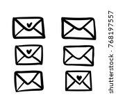 envelopes. christmas vector... | Shutterstock .eps vector #768197557
