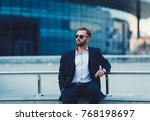 young successful businessman in ...   Shutterstock . vector #768198697