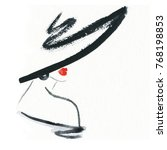 woman in hat. fashion... | Shutterstock . vector #768198853