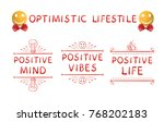 optimistic lifestyle  positive... | Shutterstock .eps vector #768202183