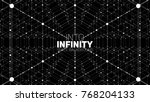 vector infinite hexagonal space ... | Shutterstock .eps vector #768204133