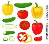 bright vector illustration of... | Shutterstock .eps vector #768223537