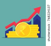 financial performance ... | Shutterstock .eps vector #768224137