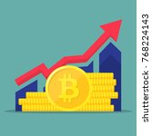 financial performance ... | Shutterstock .eps vector #768224143
