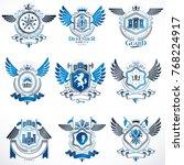 collection of vector heraldic... | Shutterstock .eps vector #768224917