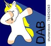dab dabbing pose unicorn kid
