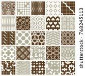 vector graphic vintage textures ... | Shutterstock .eps vector #768245113
