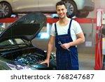car mechanic in auto repair shop   Shutterstock . vector #768247687