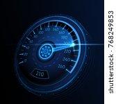 car speedometer. vector techo... | Shutterstock .eps vector #768249853