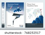 corporate business cover design ... | Shutterstock .eps vector #768252517