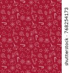 seamless pattern of holiday... | Shutterstock .eps vector #768254173