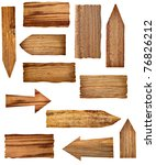 collection of wooden signs on... | Shutterstock . vector #76826212