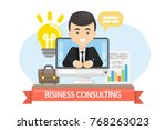 business consulting... | Shutterstock .eps vector #768263023