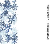 winter pattern with cute doodle ... | Shutterstock .eps vector #768264253