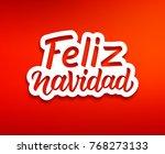 feliz navidad spanish merry... | Shutterstock .eps vector #768273133