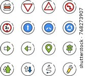 line vector icon set   sign... | Shutterstock .eps vector #768273907