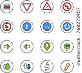 line vector icon set   sign...   Shutterstock .eps vector #768273907