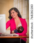 young beautiful businesswoman...   Shutterstock . vector #768282283