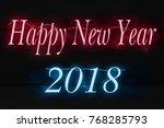 happy new year 2018 | Shutterstock . vector #768285793