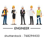 technician and builders and... | Shutterstock .eps vector #768294433