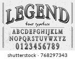 vintage font  handcrafted... | Shutterstock .eps vector #768297343