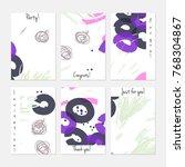 hand drawn creative universal... | Shutterstock .eps vector #768304867