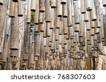 a bamboo sticks hang from the... | Shutterstock . vector #768307603
