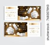 gift voucher hydrating facial... | Shutterstock .eps vector #768307843