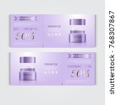gift voucher hydrating facial... | Shutterstock .eps vector #768307867