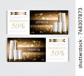 gift voucher hydrating facial... | Shutterstock .eps vector #768307873