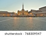view of saint peters square in... | Shutterstock . vector #768309547