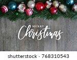 merry christmas calligraphy... | Shutterstock . vector #768310543