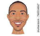 ludacris face vector icon in... | Shutterstock .eps vector #768316867