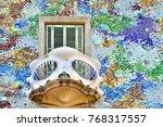 casa batllo facade. the famous... | Shutterstock . vector #768317557