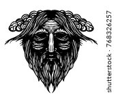 ancient viking head graphics... | Shutterstock .eps vector #768326257