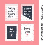 collection valentine's day...   Shutterstock .eps vector #768326347