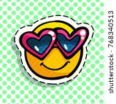 smile in love emoticon. happy...   Shutterstock .eps vector #768340513