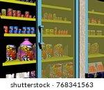 supermarket 3d rendering | Shutterstock . vector #768341563