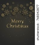 merry christmas background with ... | Shutterstock .eps vector #768342877