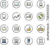 line vector icon set   patient... | Shutterstock .eps vector #768343333