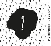 pattern with question marks.... | Shutterstock .eps vector #768357427
