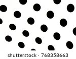 black and white dots | Shutterstock . vector #768358663