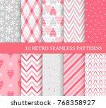 ten retro different seamless... | Shutterstock .eps vector #768358927