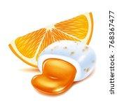 realistick chewing gum pellet...   Shutterstock .eps vector #768367477